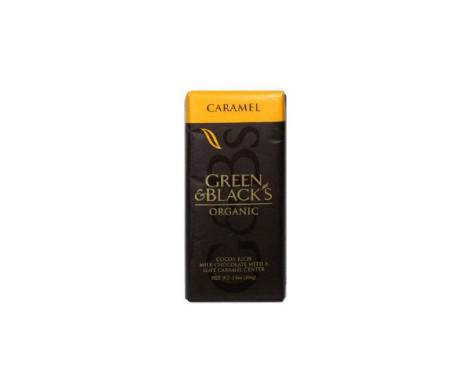 Green and Black Milk Choc with Caramel (100g)