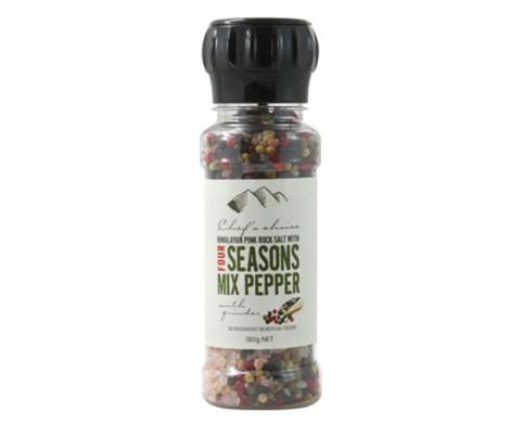 Grinder - Himalayan Pink Rock Salt with Four Seasons Mixed Pepper (180g)