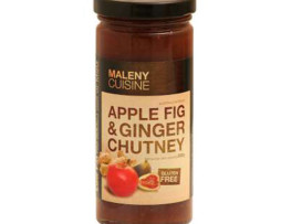 Maleny Cuisine Apple, Fig and Ginger Chutney (280g)