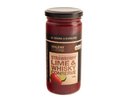 Maleny Cuisine Strawberry, Lime and Whiskey Conserve (320g)